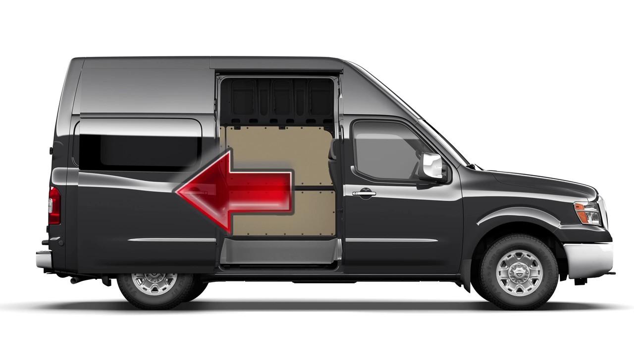 2017 nissan nv cargo van sliding door youtube. Black Bedroom Furniture Sets. Home Design Ideas