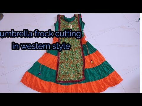 Umbrella gher frock cutting | western style frock | Geeta ladies tailor