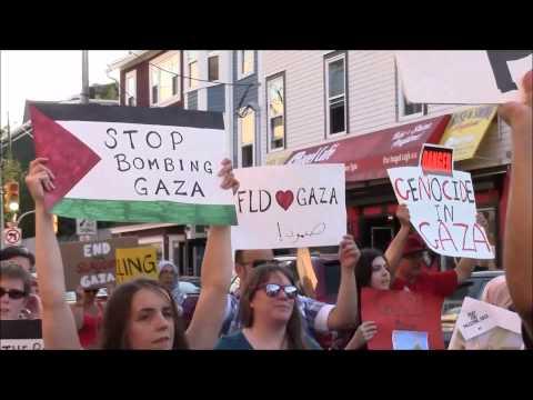 Gaza Peace Rally St. John's Canada
