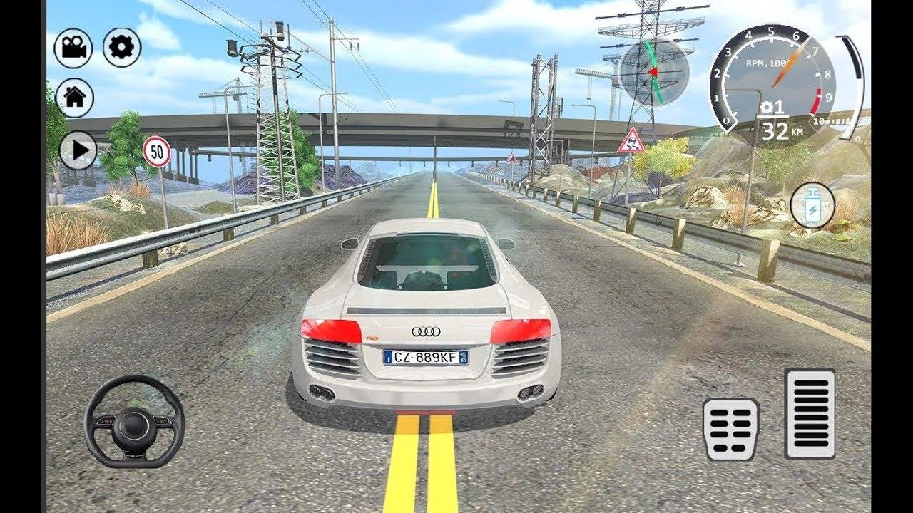 Drift Simulator Audi R8 Sports Car Racing Games
