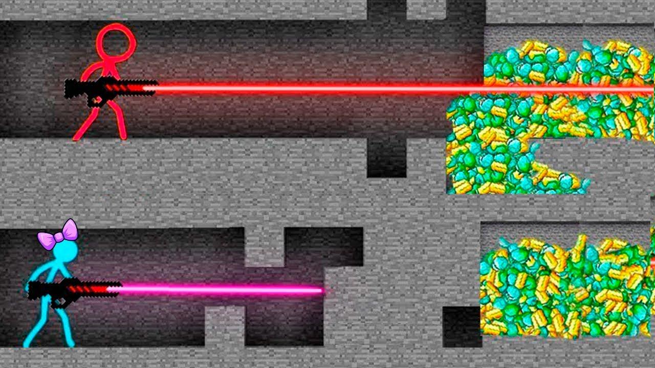 Stickman vs Minecraft Alan Becker 💎 STICK FIGURE  Animation vs. Minecraft Shorts AVM Shorts 18