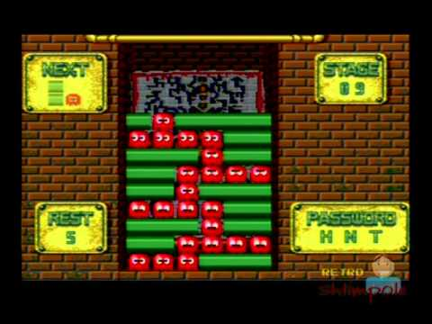 Pac-Attack SNES Gameplay [Puzzle Mode Levels 1 - 17] Pacman (Super Nintendo)
