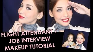 FLIGHT ATTENDANT | JOB INTERVIEW Makeup Tutorial Using Drugstore Products By Koteng Sto. Domingo