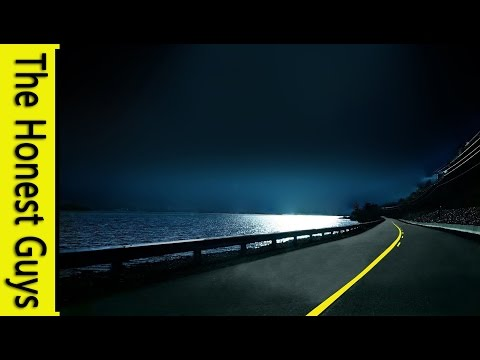 Relaxation Music - Night-time Drive to The Beach - ASMR