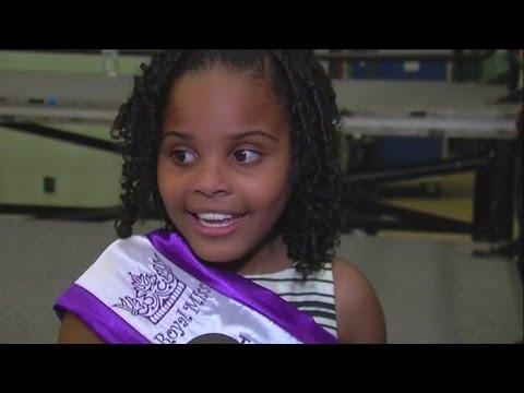 Little Flint girl meets the President