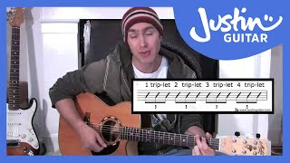 Triplet Rhythms (Guitar Lesson BC-155) Guitar for beginners Stage 5