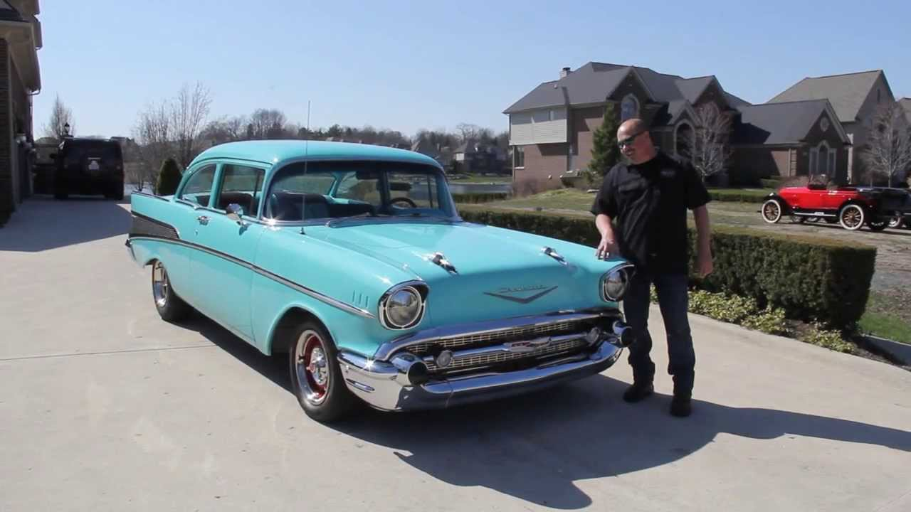 1957 chevy 210 post classic muscle car for sale in mi vanguard motor sales youtube. Black Bedroom Furniture Sets. Home Design Ideas