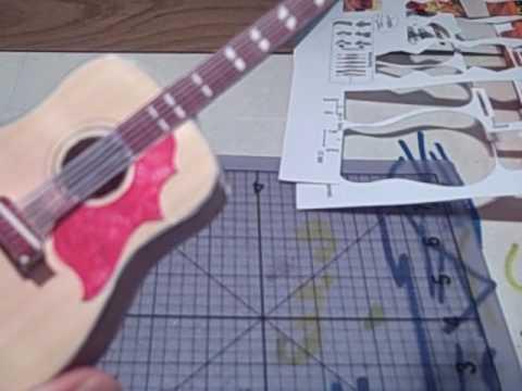 Papercraft Paper Guitar Model Making