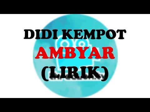 Didi Kempot Ambyar Lirik Lagu Youtube