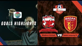Madura United (5) vs Badak Lampung FC (1) - Goal Highlights | Shopee Liga 1