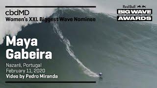 Maya Gabeira at Nazaré | cbdMD XXL BIGGEST WAVE - Red Bull Big Wave Awards