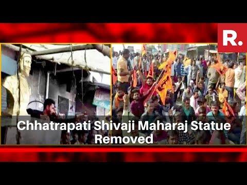 Chhatrapati Shivaji Maharaj Statue Removed In Madhya Pradesh