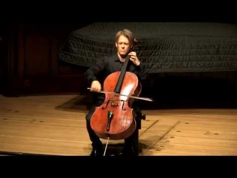 Video of Cellist Alban Gerhardt's Wigmore Hall BBC solo concert Bach No.4 and Kodály Solosonata