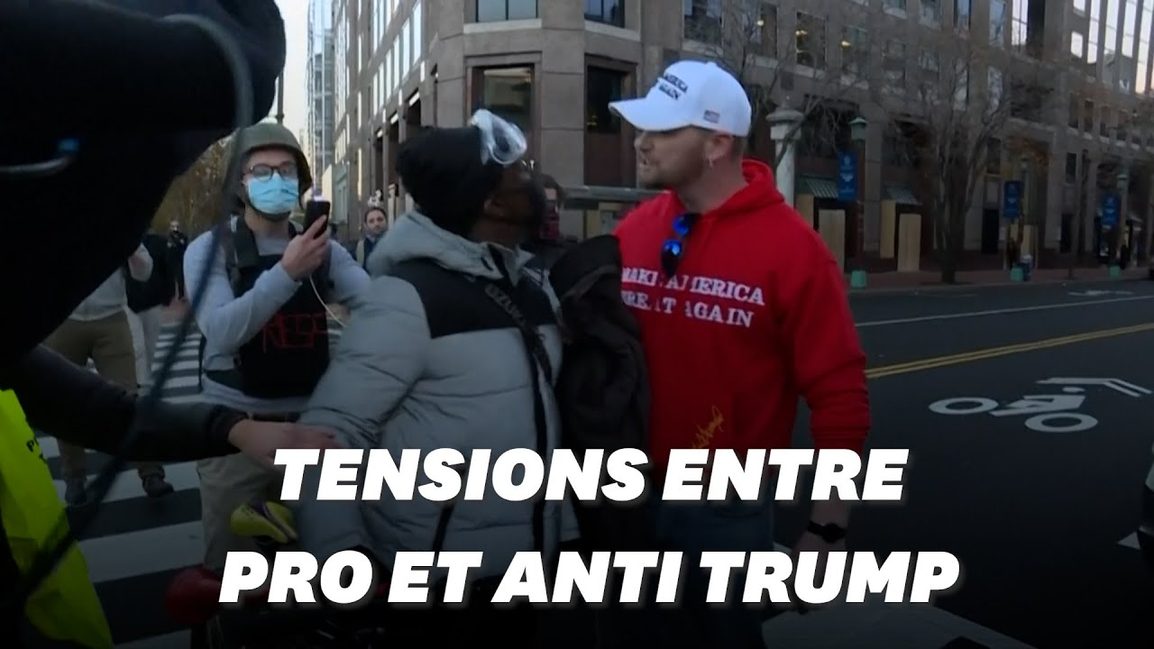 Les anti et pro-Trump s'accrochent violemment à Washington