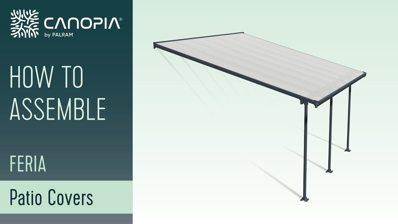 how to assemble feria patio cover by palram