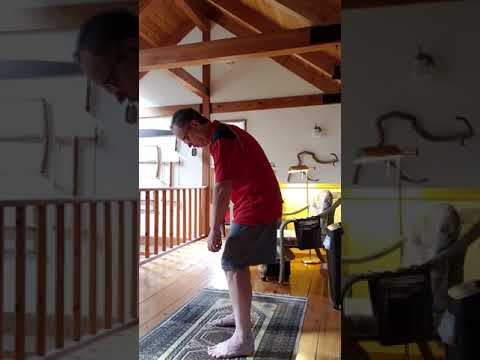 Breathing into the spine Qigong with heel lift