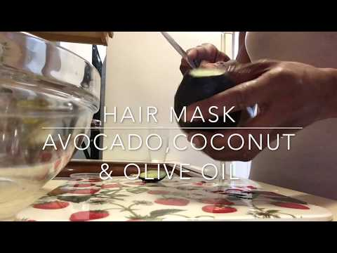 GROW YOUR HAIR W/ THIS AVOCADO OLIVE & COCONUT OIL DEEP CONDITIONER
