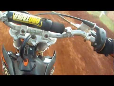Piloto Felipe 13 Anos Treinando Na Pista De Motocross De Marau-RS