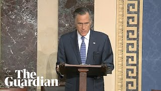 Mitt Romney votes to convict Trump: 'The president is guilty'