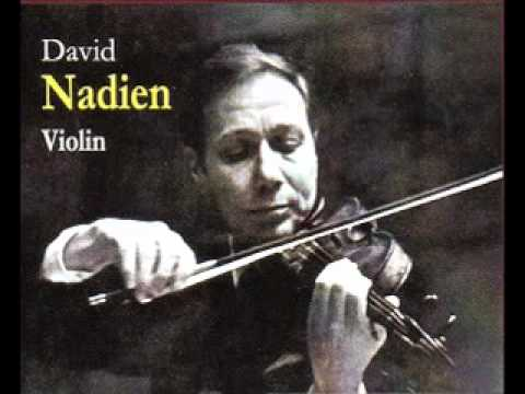 David Nadien plays Schon Rosmarin