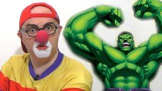 Клоун Дима и супер герои: Халк,Человек-паук... Car Clown & Super Heroes Hulk, Spider man...(Клоун Дима и супер герои: Халк,Человек-паук... Car Clown & Super Heroes Hulk, Spider man... Смешное видео для детей - Клоун Дима..., 2016-11-09T11:41:50.000Z)