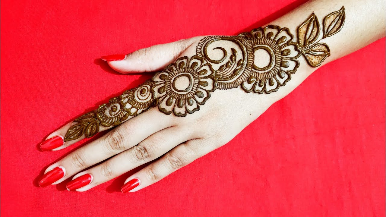 Back Hand Mehndi Design Arabic Simple