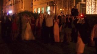 Запуск шаров на свадьбе