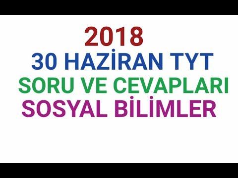 2018 TYT SOSYAL BİLİMLER TESTİ ÜNİVERSİTE SORU VE CEVAPLARI. 31 HAZİRAN.