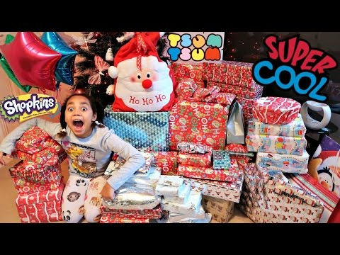 Christmas Special Morning  Tiana & Family Opening Presents Surprise Toys - Family Fun Games