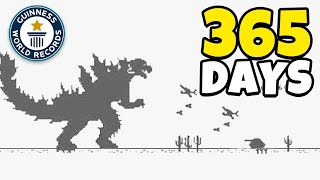 Playing Chrome Dinosaur game, Every like makes it Faster FOR 1 YEAR (World Record)