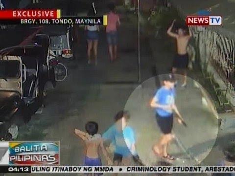 BP: Pasimula sanang riot ng mga kabataan sa Tondo, nahuli sa CCTV