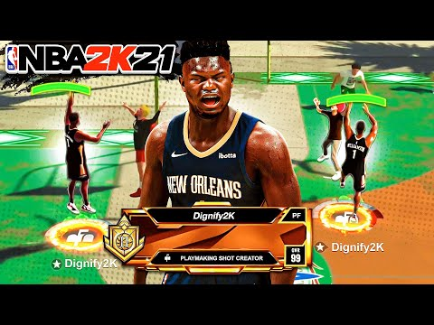 PLAYMAKING SHOT CREATOR with POST SCORER TAKEOVER is GAME-BREAKING on NBA 2K21 |