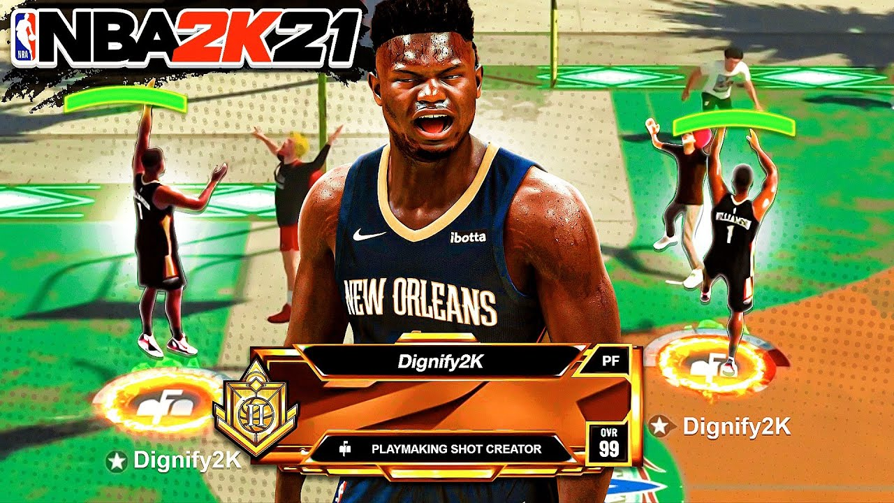 PLAYMAKING SHOT CREATOR with POST SCORER TAKEOVER is GAME-BREAKING on NBA 2K21
