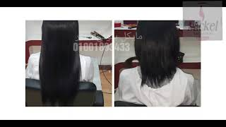 تركيب اكستنشن شعر طبيعي خياطة