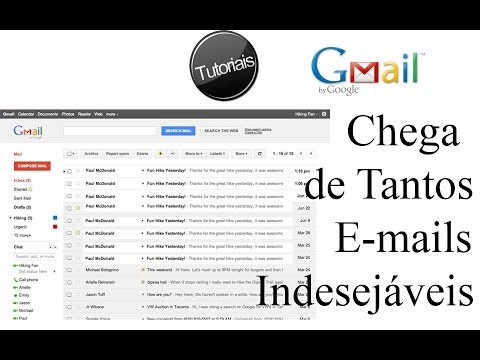 Como Excluir Email indesejado no Gmail