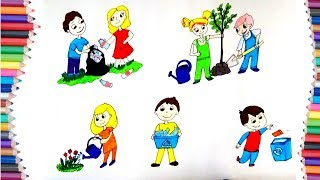 """DRAW HOW TO CLEAN OUR """"ENVIRONMENT"""" AND """"EARTH"""" FOR KIDS LEARNING"""
