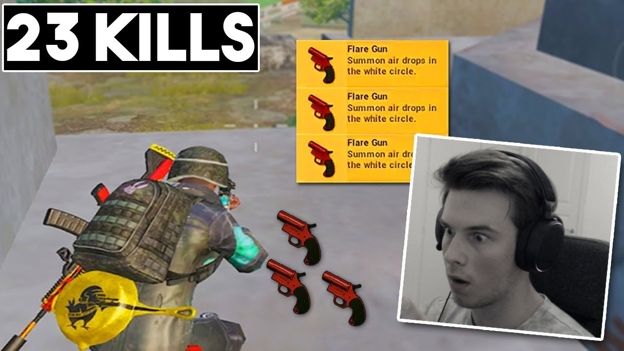 FOUND SO MANY FLARE GUNS + FACECAM! | 23 KILLS SOLO vs SQUAD | PUBG Mobile ????