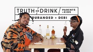 Parents and Kids Play Truth or Drink (Duranged & Debi) | Truth or Drink | Cut