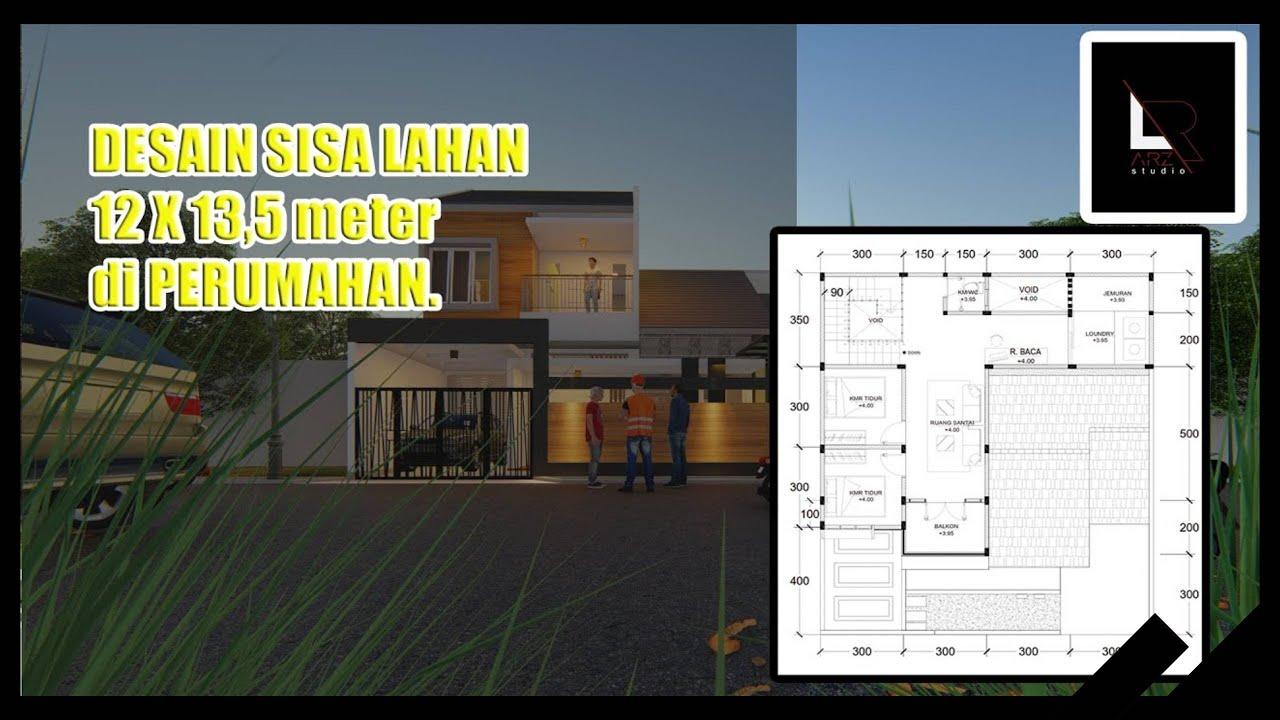 DESAIN Renovasi minimalis modern LAHAN 12 X 13,5 METER ...