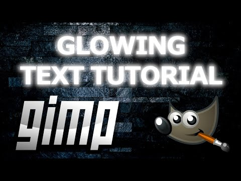 How to Make Glowing Text in GIMP thumbnail