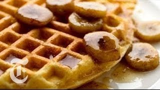 Cornmeal Waffles With Bourbon Syrup | Melissa Clark Recipes | The New York Times