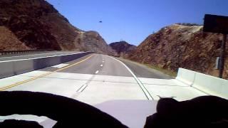 Fast truck crossing Hoover dam bypass bridge