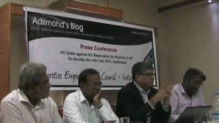 Part 2 MEC Press Conferecne. on  Issue of Reservation.