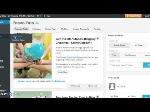 How to set up your blog on EduBlogs