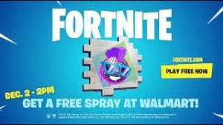Free Walmart Spray Live! Giveaway/ Fortnite