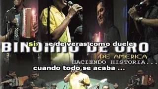 KARAOKE - No Te Quiero Perder - Binomio De Oro - Karaoke