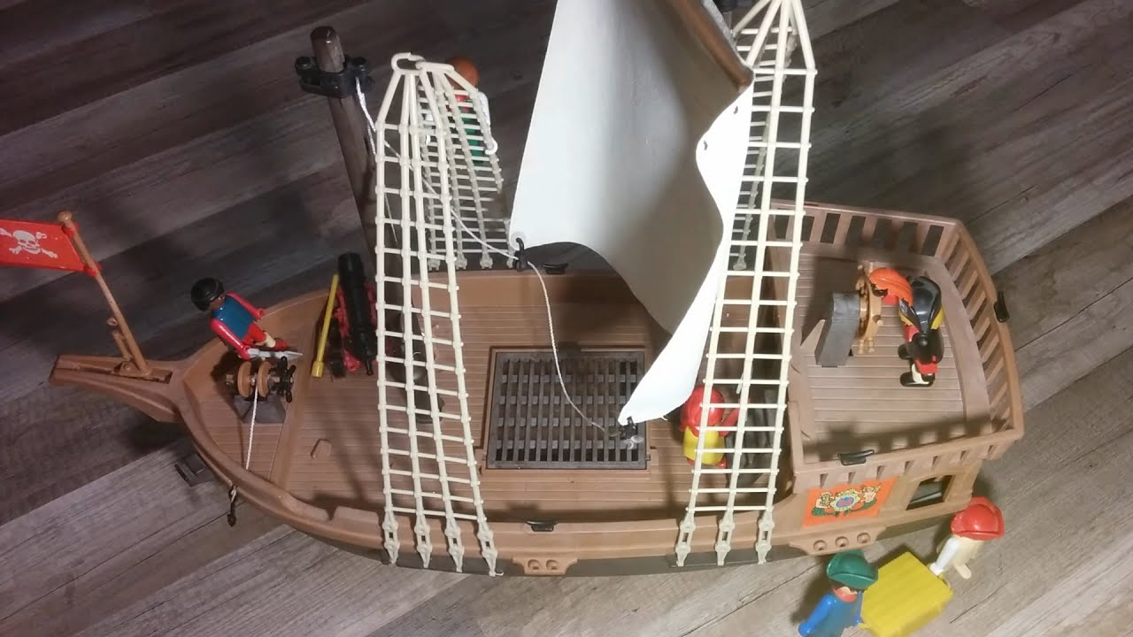 playmobil piratenschiff pirate ship 1978 geobra vintage. Black Bedroom Furniture Sets. Home Design Ideas