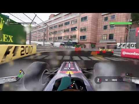 F1 2017 RB6 Monaco Wet Lap World Record No assists (1.23.198) !!