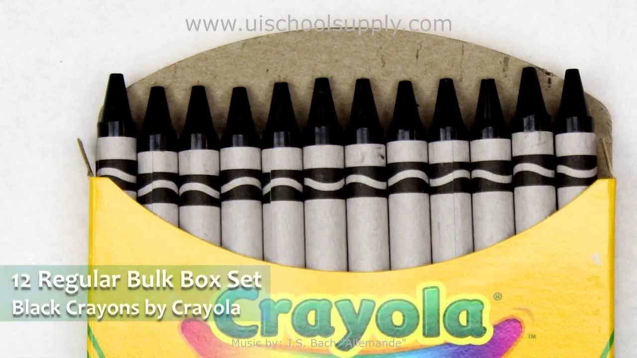 Crayola Logo On Crayon Black