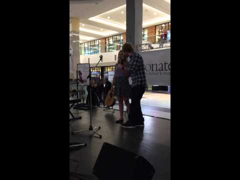 Ed surprises fan singing his song at the Mall